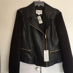Cole Haan Leather Moto Jacket.